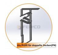 Alu Profil für doppelte Decken (PN) - 2,0 m