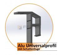 Alu-Universalprofil mit Schattenfuge - 2,0 m