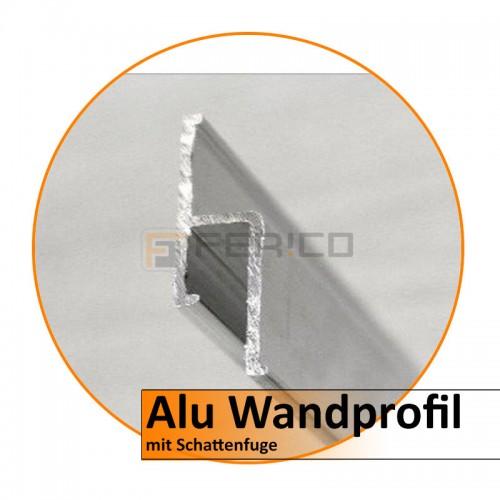 Alu Wandprofil mit Schattenfuge - 2,0 m