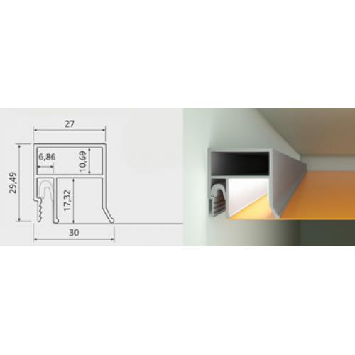 Alu Wandprofil LED ohne Abdeckleiste AT-6749