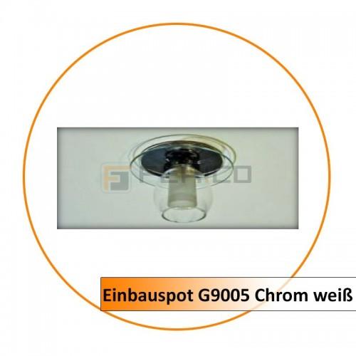 Einbauspot G9005 Chrom weiß