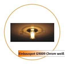 Einbauspot G9009 Chrom weiß