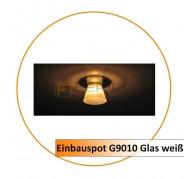 Einbauspot G9010 Glas weiß (Rest Bestand)