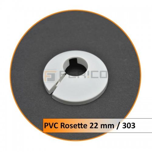 Rosetten PVC 22 mm 303
