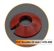Rosetten PVC 22 mm 478-490
