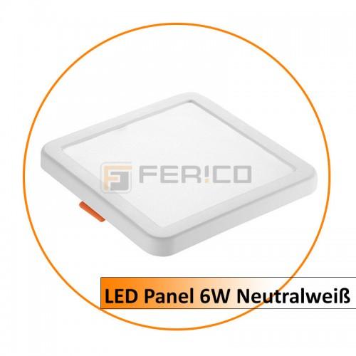 LED Panel - Eckig - Neutralweiß - verstellbare Lochgröße - 6W