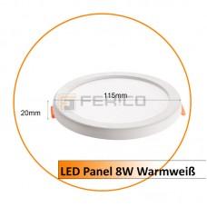 LED Panel - Rund - Warmweiß- verstellbare Lochgröße - 8W